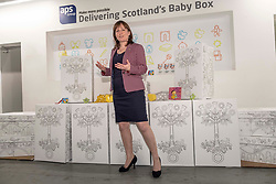 Pictured: Maree Todd <br /><br />Children&rsquo;s Minister Maree Todd visited the APS distribution centre in Edinburgh where the baby boxes are printed, filled and distributed, to meet the young people behind the new baby box design.  The winning design was created by young people from Macduff, Auchterarder, Barrhead, Kilmacolm and Edinburgh as a result of a nationwide Young Scot competition celebrating the Year of Young People.<br /><br />Ms Todd presented an award to the winning design team and unveiled the redesigned baby box.<br /><br /><br />Ger Harley | EEm 27 March 2019