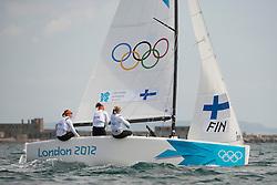 2012 Olympic Games London / Weymouth<br /> <br /> Match Race Training<br /> Match RaceFINKanerva Silja, Wulff Mikaela, Lehtinen Silja