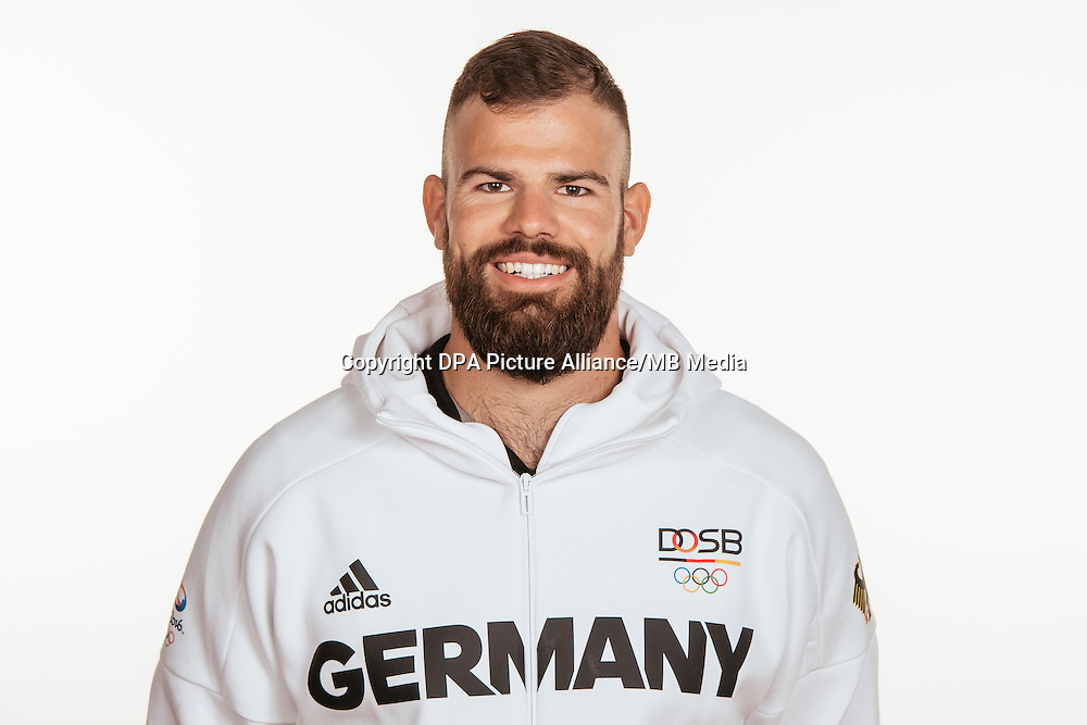 Maximilian Planer poses at a photocall during the preparations for the Olympic Games in Rio at the Emmich Cambrai Barracks in Hanover, Germany, taken on 14/07/16 | usage worldwide