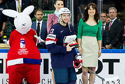 Nick Bonino of USA, MVP of the game after the Ice Hockey match between USA and Czech Republic at Third place game of 2015 IIHF World Championship, on May 17, 2015 in O2 Arena, Prague, Czech Republic. Photo by Vid Ponikvar / Sportida