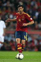 FOOTBALL - FIFA WORLD CUP 2014 - QUALIFYING - SPAIN v FRANCE - 16/10/2012 - PHOTO MANUEL BLONDEAU / AOP PRESS / DPPI - XABI ALONSO