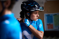 Lourdes Oyarbide (ESP) waits to sign on at Emakumeen Bira 2018 - Stage 1, a 108 km road race starting and finishing in Legazpi, Spain on May 19, 2018. Photo by Sean Robinson/Velofocus.com