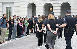 October 6, 2018 - Washington, DC, United States - Police arrested hundreds protesting Brett Kavanaugh's Supreme Court confirmation on Saturday afternoon 6th October 2018 in Washington, US. (Credit Image: © Emily Molli/NurPhoto/ZUMA Press)