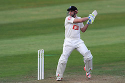 Sussex's Luke Wright cuts the ball. - Photo mandatory by-line: Harry Trump/JMP - Mobile: 07966 386802 - 05/07/15 - SPORT - CRICKET - LVCC - County Championship Division One - Somerset v Sussex- The County Ground, Taunton, England.
