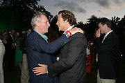 Mark Shand and Arpad Busson, QUINTESSENTIALLY AND ELEPHANT FAMILY TRUNK SHOW PARTY. SERPENTINE PAVILION, HYDE PARK. 16 SEPTEMBER 2007. -DO NOT ARCHIVE-© Copyright Photograph by Dafydd Jones. 248 Clapham Rd. London SW9 0PZ. Tel 0207 820 0771. www.dafjones.com.