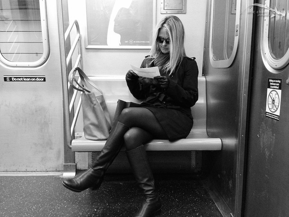 Hot Zoz in the subway. New York, April 4, 2013.