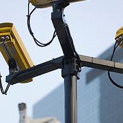 Nederland Rotterdam 27 januari 2009 20090127 Foto: David Rozing ..Camera bewaking op stationsplein centraal station .Camera's / security public area central station ..Foto David Rozing