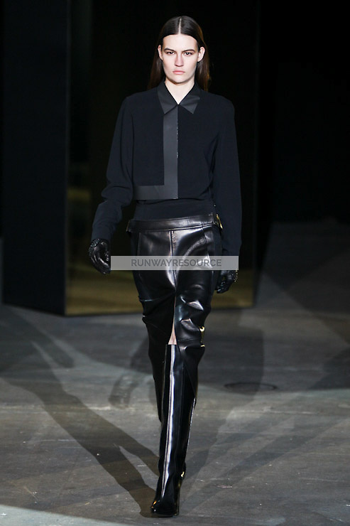 Maria Bradley walks down runway for F2012 Alexander Wang's collection in Mercedes Benz fashion week in New York on Feb 12, 2012 NYC