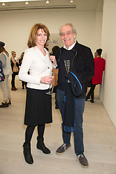 JANE ASHER and GERALD SCARFE at the opening of the exhibition Champagne Life in celebration of 30 years of The Saatchi Gallery, held on 12th January 2016 at The Saatchi Gallery, Duke Of York's HQ, King's Rd, London.