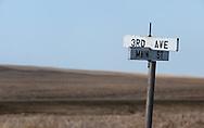 3rd and Main Street in rural North Dakota