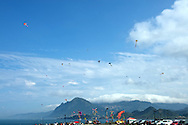 Kite flying is very popular at Badouzi.