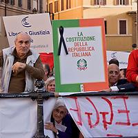 Manifestazione contro la  nuova legge elettorale 'Italicum'