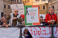 Roma 4 Maggio 2015<br /> Manifestazione  davanti Montecitorio contro la  nuova legge elettorale 'Italicum', del Governo Renzi, approvata oggi in Parlamento.<br /> Rome May 4, 2015<br /> Demonstration outside the Montecitorio, against the new electoral law 'Italicum', of the  Renzi's government, approved today in Parliament.