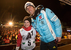 26.01.2015, Planai, Schladming, AUT, FIS Skiweltcup Alpin, Schladming, Startnummernauslosung, im Bild Fritz Dopfer (GER) // Fritz Dopfer (GER) during the drawing of the starting numbers for the men's slalom of Schladming FIS Ski Alpine World Cup at the Planai Course in Schladming, Austria on 2015/01/26, EXPA Pictures © 2015, PhotoCredit: EXPA/ Erwin Scheriau