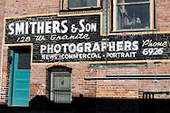 Butte, Montana, Photographers antique mural, uptown