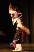 A young Eagle Dancers gives an impressive display as part of the opening ceremonies during the 15th Annual Native American Symposium. The presenting group, The Laguna Eagle Dancers, hails from the Laguna Pueblo.