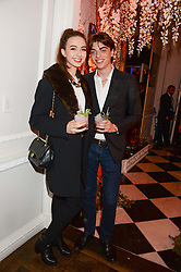 SASCHA BAILEY and SARAH STANBURY at the launch of Gordon's 'Ten Green Bottles' by Temperley London held at Temperley London Flagship, 27 Bruton Street, London on 6th November 2013.