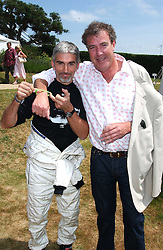 "Left to right, DAMON HILL and JEREMY CLARKSON at a luncheon hosted by Cartier at the 2005 Goodwood Festival of Speed on 26th June 2005.  Cartier sponsored the ""Style Et Luxe' for vintage cars on the final day of this annual event at Goodwood House, West Sussex. <br />