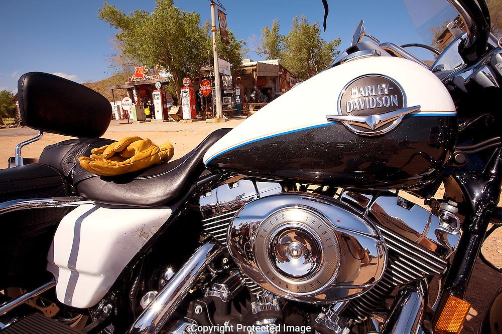Route 66, Hackbery General Store, gas station, Harley-Davidson, Arizona, AZ
