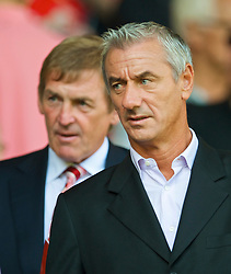 LIVERPOOL, ENGLAND - Saturday, September 12, 2009: Former Liverpool players Ian Rush and Kenny Dalglish before the Premiership match against Burnley at Anfield. (Photo by David Rawcliffe/Propaganda)
