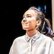 Ioanna Kimbook photocall at Bitter Wheat production shoot at Garrick Theatre on 13 June 2019, London, UK.