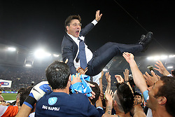 20.05.2012, Stadio Olympico, Rom, ITA, TIM Cup, Juventus Turin vs SSC Neapel, Finale, im Bild Esultanza di Walter Mazzarri Napoli, Celebration // during the final football match of Italian TIM Cup between Juventus Turin and SSC Neapel at Stadio Olympico, Rome, Italy on 2012/05/20. EXPA Pictures © 2012, PhotoCredit: EXPA/ Insidefoto/ Paolo Nucci..***** ATTENTION - for AUT, SLO, CRO, SRB, SUI and SWE only *****