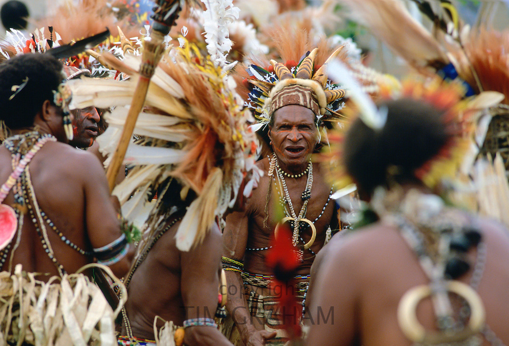 Tribal dancing, Papua New Guinea