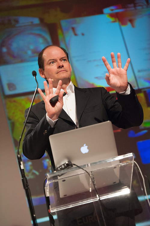 A keynote speaker from the 2014 EuroSummit in Copenhagen. The event was held at the Marriott hotel