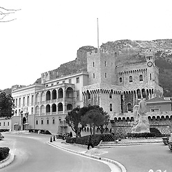 The Prince's Palace, Monte Carlo, Monaco in February 1956.