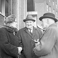 R4374<br /> 1966 commemoration of the 1916 rising. Picture are P.Byrne, of City Hall, Mrs T. McCarthy, H.Nicholls, and S.Gough. April 3 1966. <br /> (Part of the NPA and Independent Newspapers)