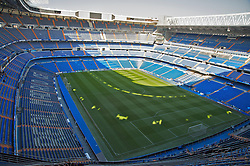 MADRID, SPAIN - Tuesday, February 24, 2009: A general view of Real Madrid Santiago Bernabeu Stadium. The view is one of the highest points of the South Wing Third Circle, 50 metres above the field of play. The capacity of the stadium is over 85,000. (Photo by David Rawcliffe/Propaganda)