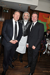 Left to right, NEIL DUDGEON, ROGER LLOYD PACK and NEIL PEARSON at One Night Only at The Ivy held at The Ivy, 1-5 West Street, London on 2nd December 2012.