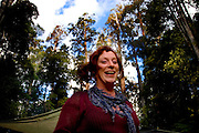 Irish activist Annie, protestor against loggin in Upper Florentine Valley camp, Tasmania. These activists have setup a camp blocking a forest access road made by contractors for Forestry Tasmania, in order to stop the logging of old growth forest in what is potentially a World Heritage Area.