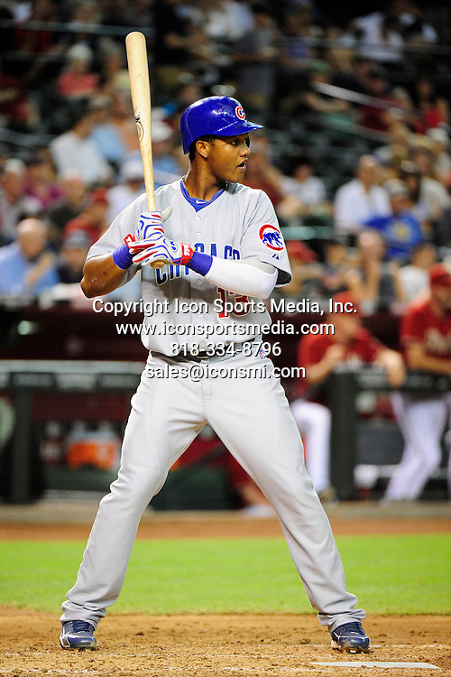 07 July 2010: Chicago Cubs shortstop Starlin Castro (13) during the MLB regular season game between the Chicago Cubs and the Arizona Diamondbacks at Chase Field in Phoenix, AZ.