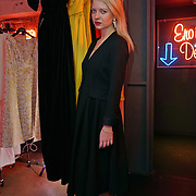 London,England,UK : 13th April 2016 : Designer Alexandra Long Press Day Introducing 'Enigma II' Alexandra Long pays homage to the women who made Great Britain, truly great! at Lights of Soho, London. Photo by See Li