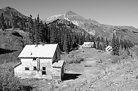 Ghost town near the Yankee Girl Mine at Red Mountain Pass in Colorado
