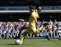 David Jones score Preston's third goal.<br />Ipswich v Preston. Picture by Barry Bland 29/08/05