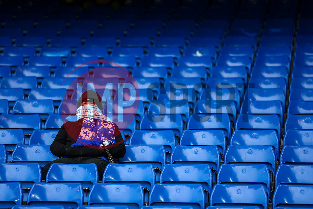 A fan sits along at Stamford Bridge - Mandatory byline: Jason Brown/JMP - 16/04/2016 - FOOTBALL - London, Stamford Bridge - Chelsea v Manchester City - Barclays Premier League