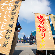 Okinawa Protests continues as U.S. helipad construction resumes in Takae
