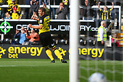 Burton Albion defender Stephen Warnock (3) celebrates his goal, 1-0 during the EFL Sky Bet Championship match between Burton Albion and Fulham at the Pirelli Stadium, Burton upon Trent, England on 16 September 2017. Photo by John Potts.