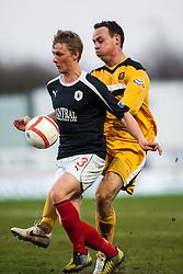 Falkirk's Stephen Kingsley..Falkirk v Dumbarton, 16/4/2013.