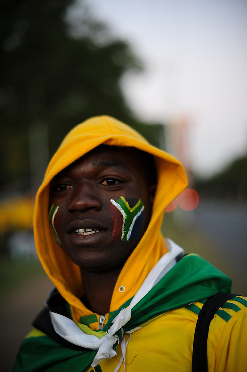 prior to the South Africa vs. Uruguay World Cup match Wednesday, June 16, 2010 outside Loftus Versfeld Stadium in Pretoria, South Africa.