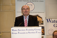 "Minister Phil Hogan at the Water Services Training Group 15th Annual Conference entitled "" Water Services in Ireland-Organisational Modernisation and New Challenges"". Photo:Andrew Downes. Photp issued with compliments, no reproduction fee."
