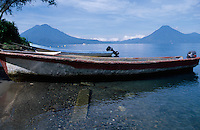 Boats on Lake Atitlan, Panajachel, Guatemala