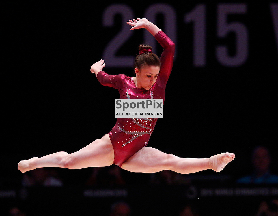 2015 Artistic Gymnastics World Championships being held in Glasgow from 23rd October to 1st November 2015.....Ruby Harrold (Great Britain) performs on the Balance Beam in the Women's All-Round Final...(c) STEPHEN LAWSON | SportPix.org.uk