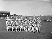 The Kerry team before the All Ireland Senior Gaelic Football Championship Final, Kerry vs Galway in Croke Park on the 27th September 1959. Kerry 3-7 Galway 1-4.<br />