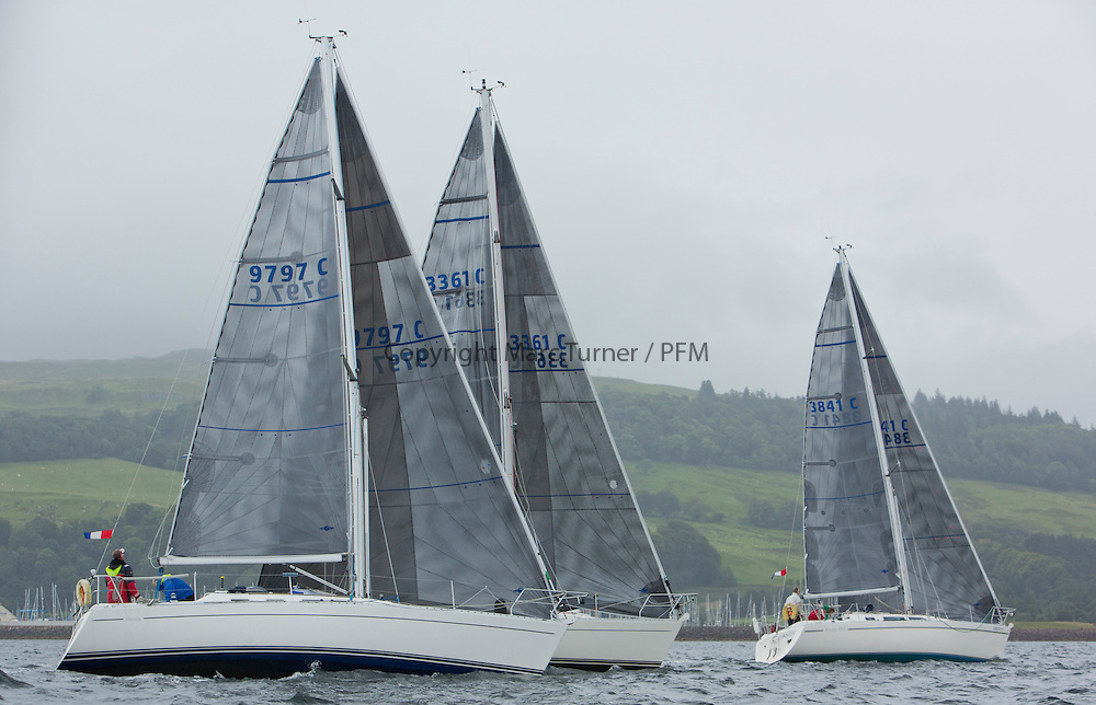 Caledonia MacBrayne Largs Regatta Week 2016<br /> <br /> 2 handed race - Moody 336 - Ubiquity <br /> <br /> Credit Marc Turner / PFM Pictures.co.uk