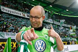 19.11.2011,Volkswagen Arena, Wolfsburg, GER, 1.FBL, VFL Wolfsburg vs Hannover 96, im Bild Stadionsprecher Georg Poetzsch // during the match from GER, 1.FBL,VFL Wolfsburg vs Hannover 96 on 2011/11/19, Volkswagen Arena, Wolfsburg, Germany. EXPA Pictures © 2011, PhotoCredit: EXPA/ nph/ Schrader..***** ATTENTION - OUT OF GER, CRO *****