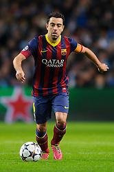 Barcelona Midfielder Xavi (ESP) in action - Photo mandatory by-line: Rogan Thomson/JMP - Tel: 07966 386802 - 18/02/2014 - SPORT - FOOTBALL - Etihad Stadium, Manchester - Manchester City v Barcelona - UEFA Champions League, Round of 16, First leg.