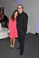 ROBIN DERRICK and his wife LISA ELDRIDGE at the Vogue Festival 2012 in association with Vertu held at the Royal Geographical Society, London on 20th April 2012.